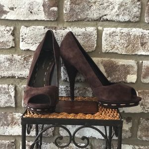 BCBGeneration Brown Suede Heels